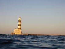 Leuchtturm am daedalus Riff Lizenzfreie Stockfotos