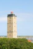 Leuchtturm an den Holländern Terschelling Stockbild