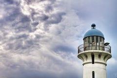 Leuchtturm an den Raffles Jachthafen, Singapur Stockbild