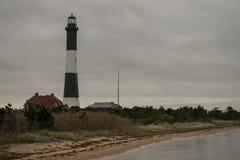 Leuchtturm an der Dämmerung Lizenzfreie Stockbilder