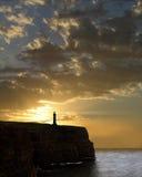 Leuchtturm an der Dämmerung Lizenzfreies Stockbild