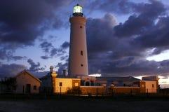 Leuchtturm an der Dämmerung Stockfotografie