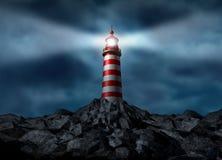 Leuchtturm, der den Pfad löscht Stockfoto