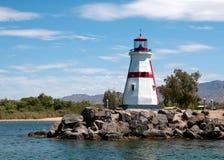 Leuchtturm in der Lake- Havasustadt, AZ Stockbilder