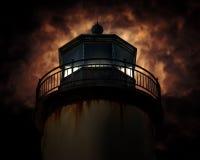 Leuchtturm in der Nacht Lizenzfreies Stockbild