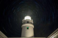 Leuchtturm der Sommer-Nachtv Caballeria lizenzfreie stockfotografie