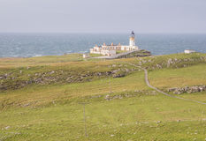 Leuchtturm an der Westküste von Schottland Stockbilder