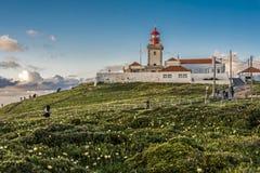 Leuchtturm des 18. Jahrhunderts in Cabo DA Roca stockfotos
