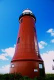 Leuchtturm in einem Hafen Stockfoto
