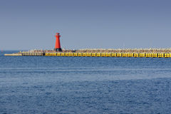 Leuchtturm, Eingang zum Hafen Lizenzfreie Stockbilder