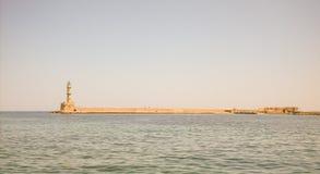 Leuchtturm am Ende der Mole Lizenzfreies Stockfoto