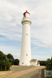 Leuchtturm entlang der großen Ozeanstraße Lizenzfreies Stockbild