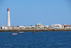 Leuchtturm, Faro, Portugal Stockfotografie