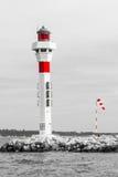 Leuchtturm in Frankreich-Aufenthalt im Meer Lizenzfreies Stockbild