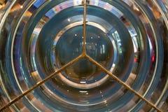 Leuchtturm Fresnel-Objektiv stockfotografie