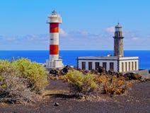 Leuchtturm in Fuencaliente auf La Palma stockfotos