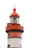 Leuchtturm getrennt auf Weiß Stockfotos