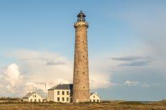 Leuchtturm in Grenen, Dänemark Stockfotografie