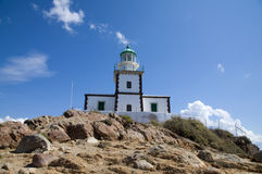 Leuchtturm in Griechenland Stockfotografie