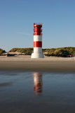 Leuchtturm Helgoland Düne Südstrand. The lighthouse of the Helgoland neighbor island Duene in the german north sea royalty free stock image