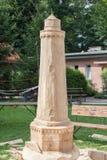 Leuchtturm hergestellt vom Holz Stockfotos