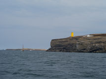 Leuchtturm in Husavik Island Lizenzfreies Stockfoto