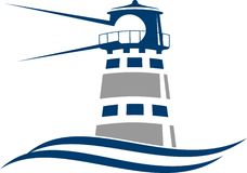 Leuchtturm-Ikone lizenzfreie abbildung