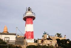 Leuchtturm im Hafen, altes Jaffa, Israel, Mittelmeer Stockfotos