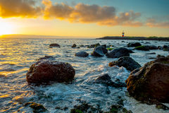 Leuchtturm in Inseln San Cristobal Galapagos stockbilder