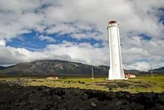 Leuchtturm, Island Stockfotografie