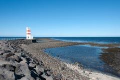 Leuchtturm in Island Lizenzfreie Stockfotografie