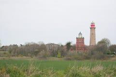 Leuchtturm am Kap Arkora Ruegen Lizenzfreie Stockfotos