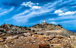 Leuchtturm am Kap Formentor in der Küste von Nord-Mallorca, Spanien Lizenzfreie Stockfotografie