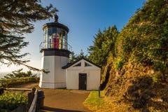 Leuchtturm am Kap Meares Stockfotografie