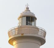 Leuchtturm-Kap Zampa, Yomitan-Dorf, Okinawa Japan bei Sonnenuntergang lizenzfreie stockfotos