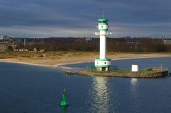 Leuchtturm in Kieler Fjord - Deutschland lizenzfreies stockfoto