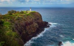 Leuchtturm an Kilauea-Punkt, Kauai, Hawaii lizenzfreie stockfotografie