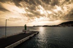 Leuchtturm, Kroatien 2017 Stockbild