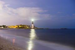 Leuchtturm-lange Belichtung Stockbild