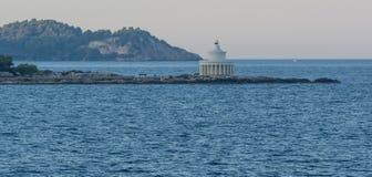 Leuchtturm, Lassi, Kefalonia Griechenland stockfotografie