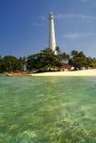 Leuchtturm Lengkuas-Insel, Belitung, Indonesien lizenzfreie stockfotos