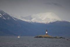 Leuchtturm Les Eclaireurs auf dem Spürhund-Kanal lizenzfreie stockbilder