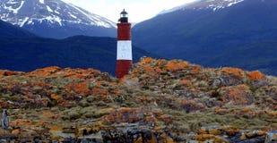 Leuchtturm Les Eclaireurs, Ushuaia Stockbilder