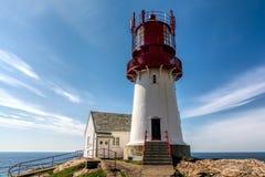 Leuchtturm Lindesnes Fyr stockfoto