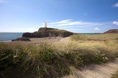 Leuchtturm, Llanddwyn Insel Stockfoto