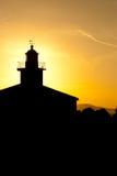Leuchtturm in Makarska bei Sonnenuntergang Lizenzfreies Stockbild