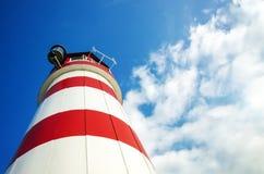 Leuchtturm mit blauem Himmel Stockbilder
