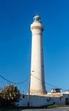 Leuchtturm mit dem Himmelhintergrund Lizenzfreies Stockbild