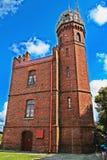 Leuchtturm mit Standpunkt auf die Oberseite in Ustka Lizenzfreie Stockfotos