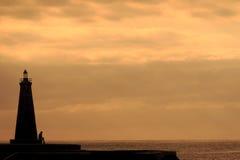 Leuchtturm am Nachmittag Stockfotografie